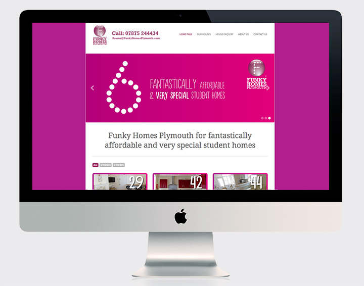Funky Homes Plymouth responsive website