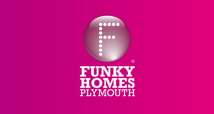 Identity branding for Funky Homes Plymouth