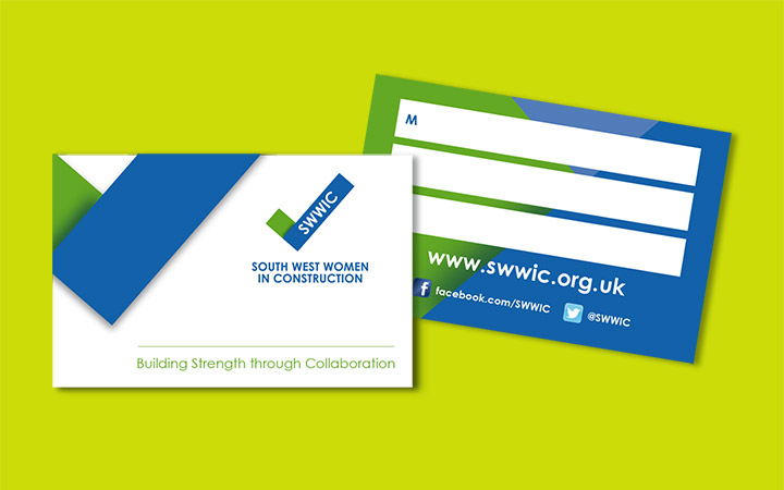 South West Women in Construction business card reverse