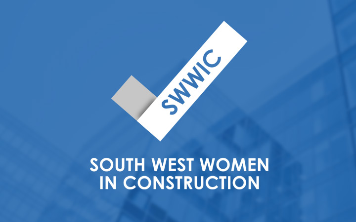 South West Women in Construction reversed logo