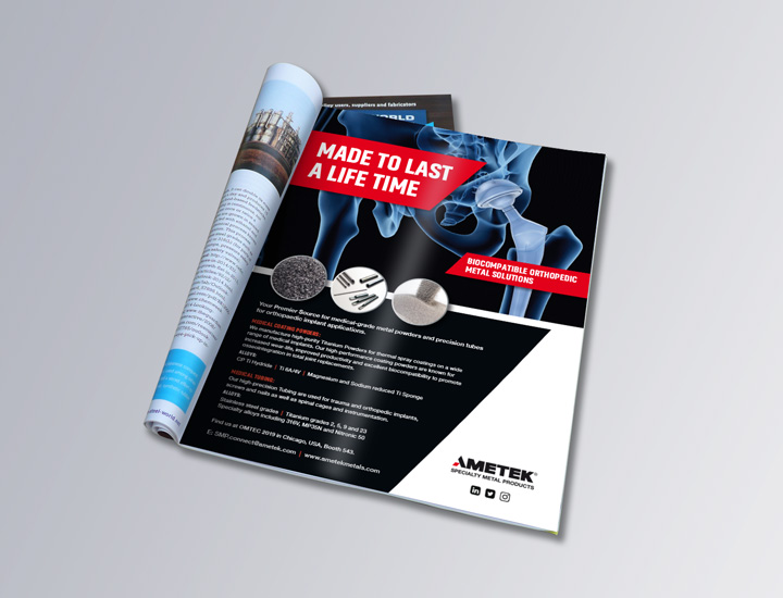 Full page trade Ad